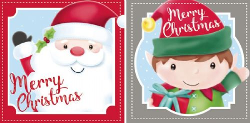 20 Santa & Elf Christmas Cards